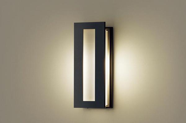 パナソニック ポーチライト センサー付 ブラック LED(電球色) LGWC85075BF