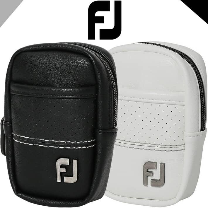 白色と黒色を基調とするFJモノトーンシリーズのアクセサリーケース 2021年モデル フットジョイ FJ 超激安特価 Modern 国内在庫 Classic Accessory Case モダンクラシック アクセサリケース ブラック ホワイト ユニセックス ラウンド小物 日本正規品 FOOTJOY W9.5xD5.5xH15cm 31696 31695