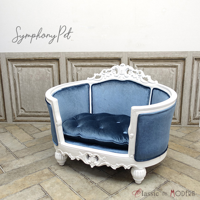 Amazing French Rococo Pet Sofa Cat Sofa Dog Sofa Blue Blue 1164 M 18F92 Gmtry Best Dining Table And Chair Ideas Images Gmtryco