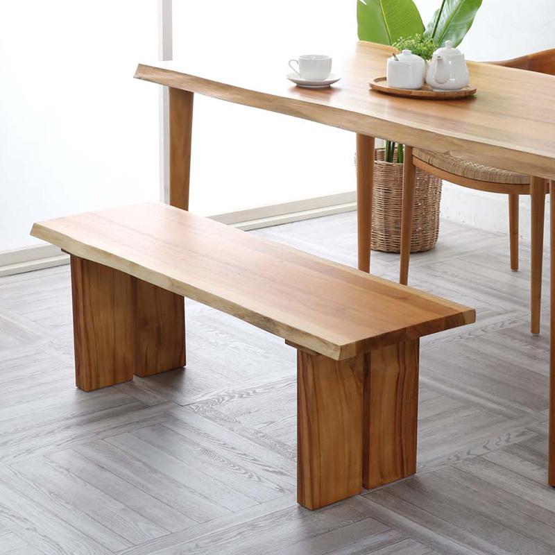 チェア 北欧 ベンチ 幅118 無垢 ダイニングチェア ダイニングチェアー 食卓椅子 木製 ナチュラル おしゃれ モダン レトロ 民泊 送料無料 C250WX