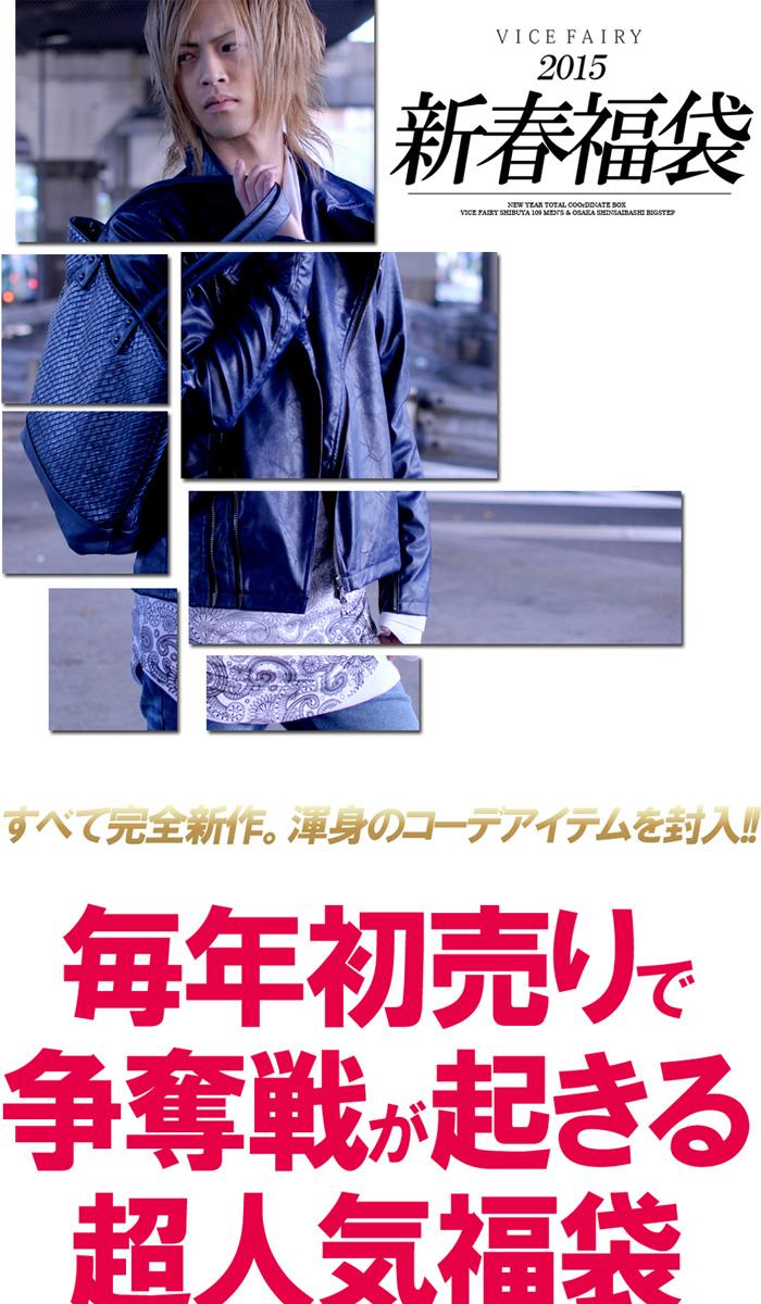 【送料無料】VICE FAIRY(ヴァイスフェアリー)公式 2015 新春福袋 ~ 数量限定生産 メンズ ホスト ヴィジュアル 豪華4点 アウター トップス ボトムス バック