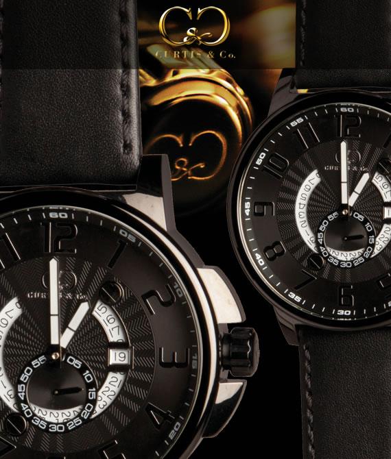 【即納品】CURTIS&Co.正規販売店(カーティス,腕時計) BIG Time COOL 黒 Case/黒ビッグタイムクール [HHBK-B]ガガミラノ GaGa MILANOの次はコレ!クレジット24回払いなら、お支払いが楽々!月々約 9,000円!