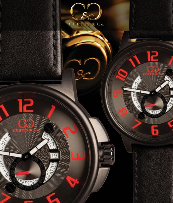 【即納品】CURTIS&Co.正規販売店(カーティス,腕時計) BIG Time COOL Black Case/Redビッグタイムクール [HHBK/RN-B]ガガミラノ GaGa MILANOの次はコレ!クレジット24回払いなら、お支払いが楽々!月々約 9,000円!