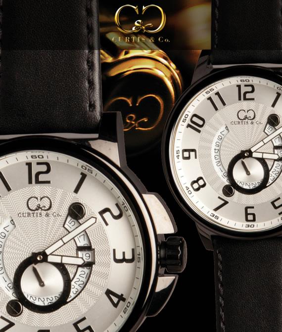 腕時計 メンズ 男性腕時計CURTIS&Co.正規販売店(カーティス,腕時計) BIG Time COOL Black Case/Whiteビッグタイムクール [HHW-B]ガガミラノ GaGa MILANOの次はコレ!クレジット24回払いなら、お支払いが楽々!月々約 9,000円!