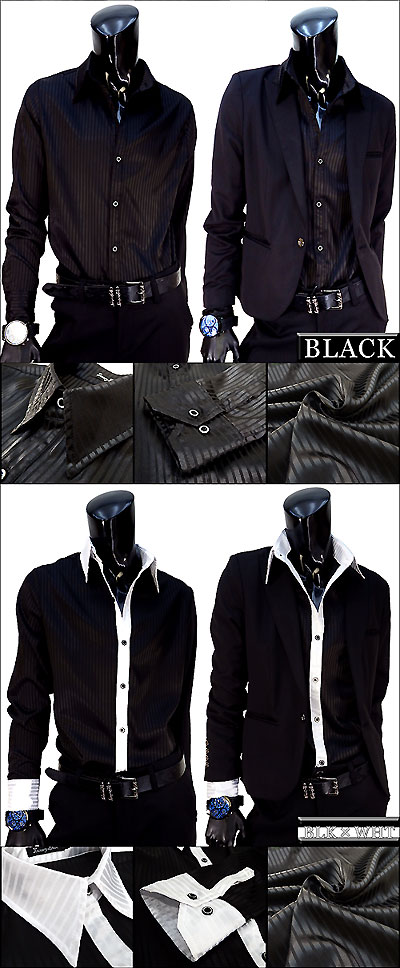 Industry lowest price Luxury (luxury Black) ultra gloss satenshats all 8 col host shirt gentleman Y shirt men's dress shirt satin fabric wedding ceremony review writing and shipping 300 yen 1980 yen on multiple purchases's host shirt men's men's Visual c