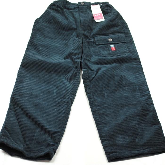 SMILING 贈り物 130cm 男児パンツ 黒のキルティング素材 前後ポケットあり 裏地付いていて暖かそう ロゴプリント ウエストゴム OUTLET SALE