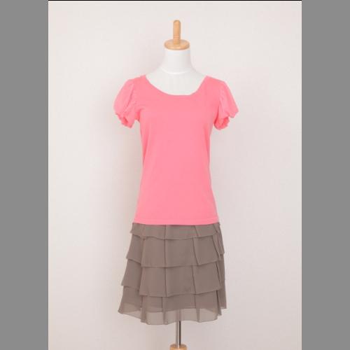 40%OFFの激安セール シフォン素材のふんわりティアートタイプスカート ON OFFとも楽しめますから 嬉しいです vanilla 中古 ティアートタイプスカート 年中無休 confusion