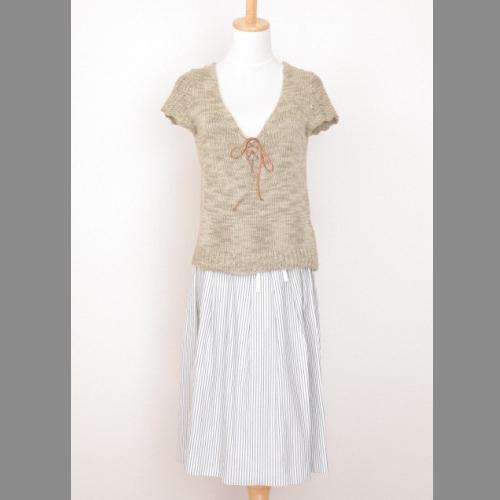 ボーダー巻きスカートです ふんわり感を出すのタックがあり 清爽感が溢れるカジュアルな一品 中古 TOMORROWLAND ギフト ボーダー巻きスカート 注文後の変更キャンセル返品 MACPHEE