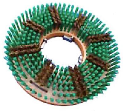 エンボス床面洗浄用ブラシ 真鍮トーロンブラシ 14インチ【ナイロン 真鍮ブラシ】