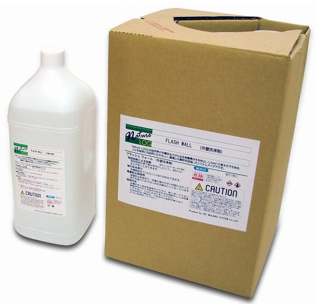 Nature LOG ネイチャーログ フラッシュウォール (外壁洗浄剤) 酸性 4L×4本 【業務用 FLASH WALL 外壁洗浄】