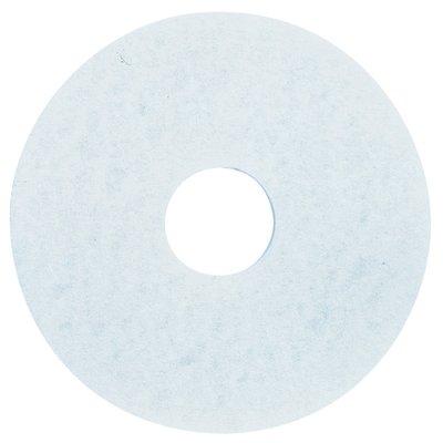 3M フロアパッド 18インチ 白 5枚 ホワイトスーパーポリッシュパッド【業務用 ポリッシャー用パッド】