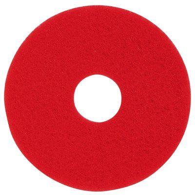 3M フロアパッド 13インチ 赤 5枚 レッドバッファーパッド【業務用 ポリッシャー用パッド】