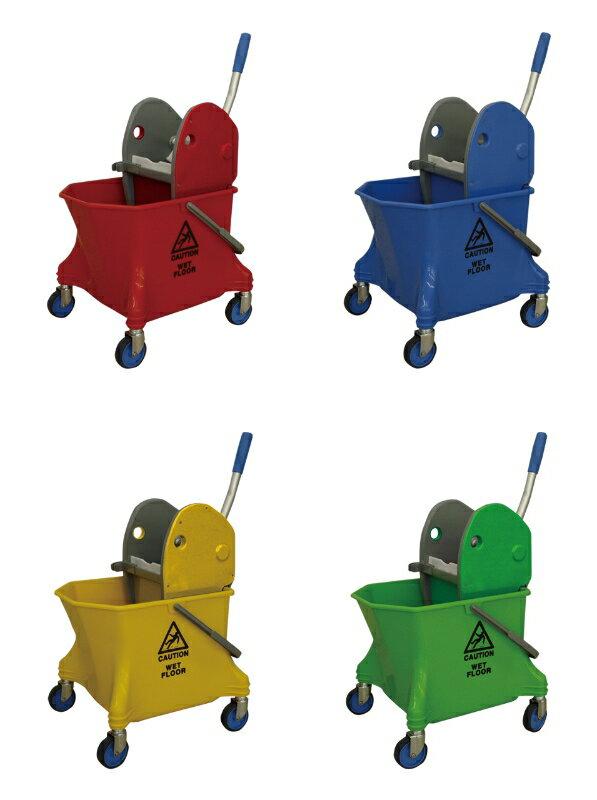 C×S シーバイエス リンガーバケツセット 赤・青・黄・緑【業務用 モップ絞り機 モップリンガー】