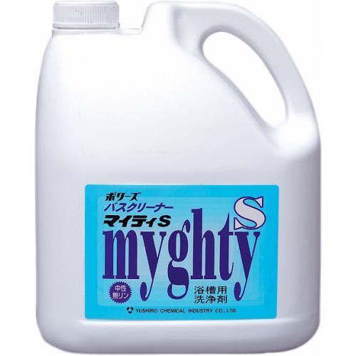 ユシロ ポリーズ バスクリーナー マイティS (4L×4本)【業務用 ユシロ化学工業】