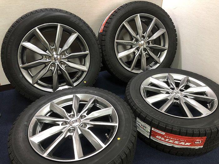 新品 スタッドレス 215/55R17 ブリヂストン ブリザック VRX SEIN ホイール&タイヤセット 215 55 17 アルファード ヴェルファイア