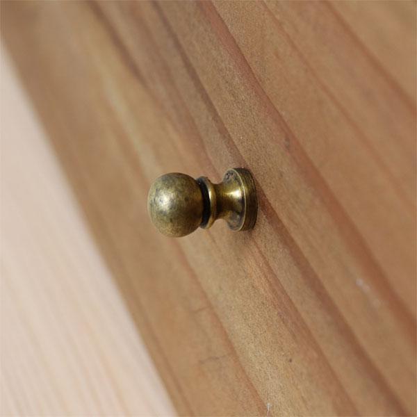 家具に合うぷっくり 丸い形 可愛い アンティーク調 真鍮製 つまみ n001 レトロ 取っ手 バリ真鍮 販売期間 全店販売中 限定のお得なタイムセール ミニサイズ 金具 BRASS 真鍮