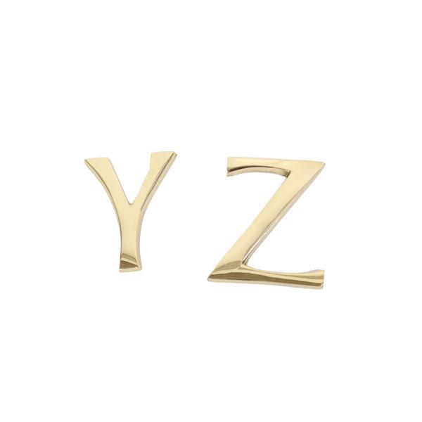 オリジナルの看板作りにチャレンジ 真鍮レターゴールド 45mm 大文字 YZ 看板 表札 ゴールドカラー アルファベット【duve】【bl0455cayz】 真鍮 大文字 ゴールド 45mm アルファベット Y Z 看板 表札 ネームプレート ツリーハウス ネコポス メール便