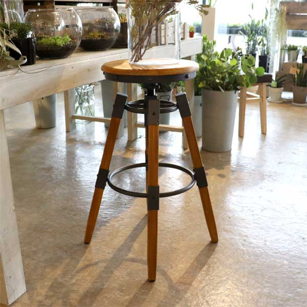 ハイスツール ハイタイプ 椅子 チェア 高さ調節可 カウンタースツール 丸椅子 キッチン ダイニング インテリア おしゃれ