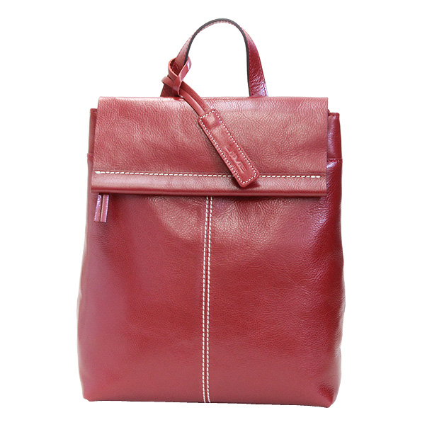 5b8821ff458a 来夢(LIME L1734-20) Red Cowhide Leather Backpacks pure made in japan Leather  Top-Handle Bag Ladies women