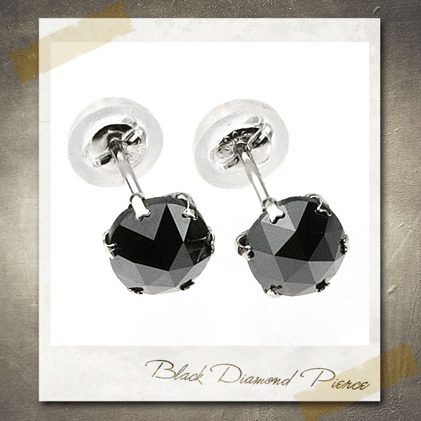 【送料無料】 ピアス レディース メンズ プラチナ 1.0カラット ブラックダイヤモンド アレルギーフリー 日本製 【ラッピング不可】 P20Aug16
