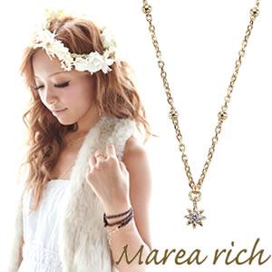 送料無料 マレア リッチ Marea rich K10 シンプルダイヤネックレス ゴールド×ダイヤモンド 10KJ-08 P20Aug16