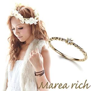 送料無料 マレア リッチ Marea rich K10 シンプルダイヤリング ゴールド×ダイヤモンド 10号 10KJ-09 P20Aug16