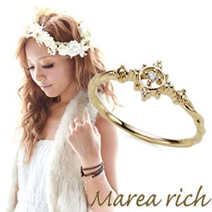 【送料無料】 マレア リッチ Marea rich K10 マリンモチーフリング ゴールド×ダイヤモンド 10号 10KJ-13 P20Aug16