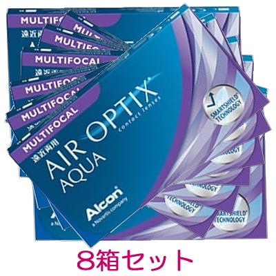 【8箱】【遠近両用】【メール便発送】エアオプティクスアクア遠近両用 2週間使い捨てコンタクトレンズ 6枚入 8箱セット(2ウィーク/2weekマルチフォーカル)(AIR OPTIX AQUA MULTIFOCAL)