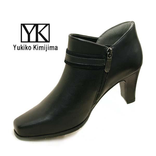 ユキコ キミジマ Yukiko Kimijima ショート アンクルブーツ 1015 サイドファスナー 本革 レディース