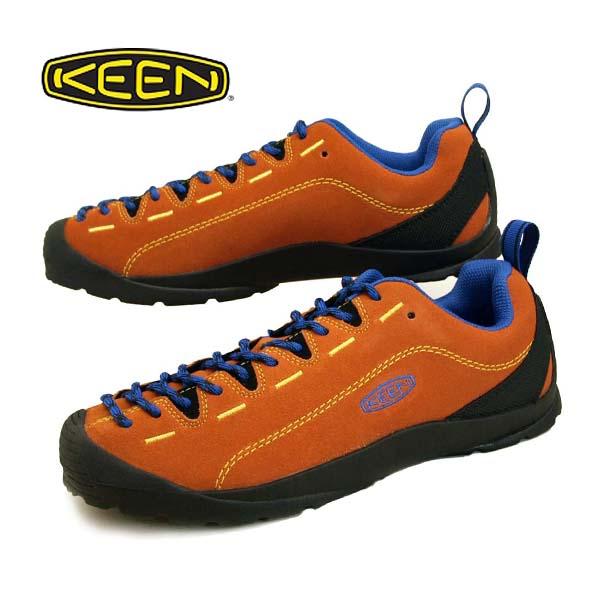 キーン KEEN JASPER 1021883 ジャスパー スエード スニーカー 橙/青 メンズ