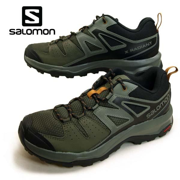 サロモン SALOMON X RADIANT 406750 軽量 ハイキングシューズ メンズ