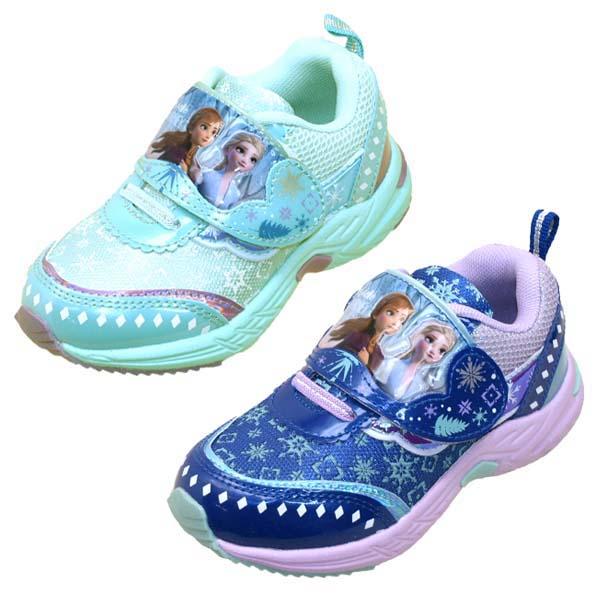 あす楽 アナと雪の女王2 アナ雪 マーケット ディズニー DISNEY 1002 スニーカー キッズ 運動靴 ベルクロ 出荷 マジックベルト
