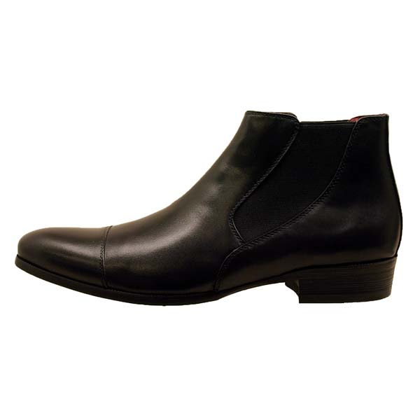 あす楽 送料無料 本革サイドゴアチャッカブーツ クリアランス商品 ケント KENT 1905 ビジネスブーツ 倉 天然皮革 メンズ サイドゴア 黒 高価値 ストレートチップ