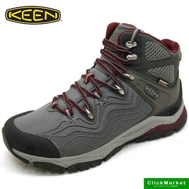 キーン KEEN APHLEX MID WP 1015385 エーフレックス ウォータープルーフ ハイキングシューズ 灰 レディース