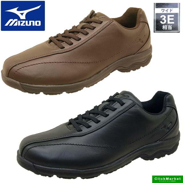 ミズノ MIZUNO LD40 IV ウォーキング カジュアル 161709 161758 3E 本革 ブラック/ブラウン メンズ