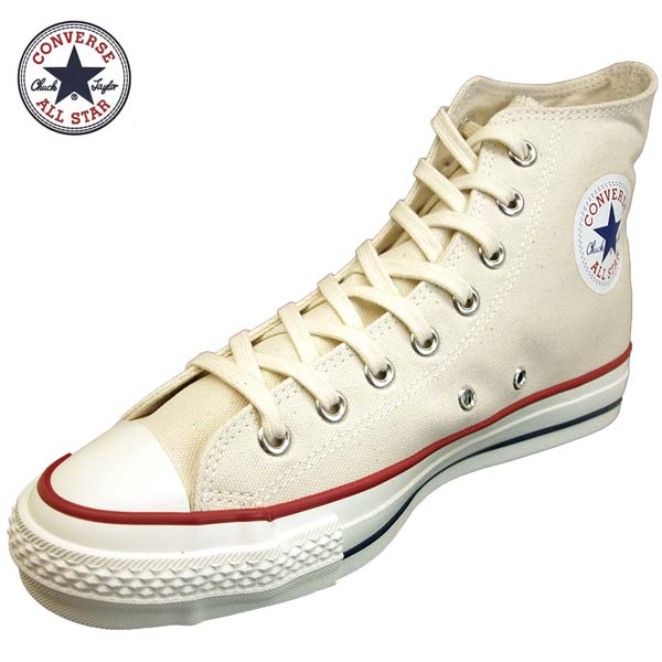 コンバース CONVERSE CANVAS ALL STAR J HI キャンバス オールスター J ハイ ナチュラル/白 日本製 メンズ