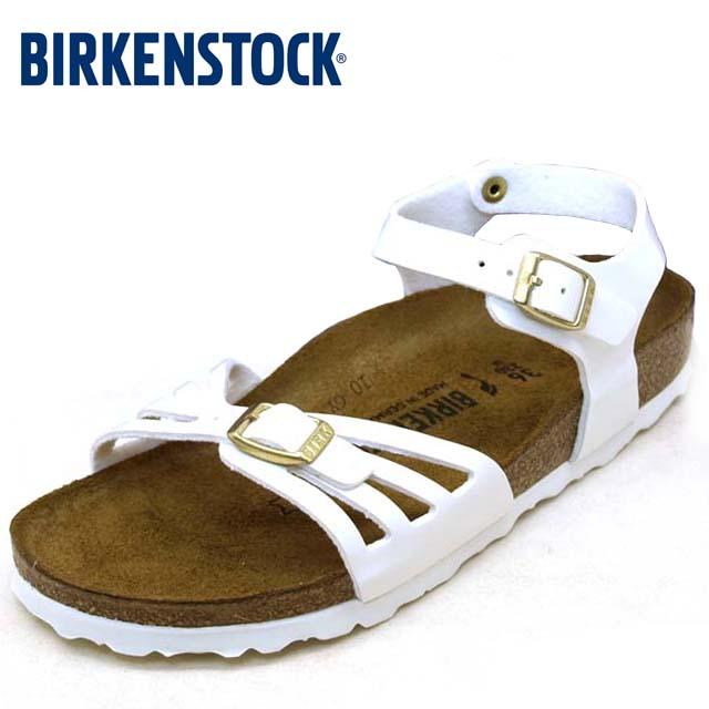 50%OFF 海外並行輸入正規品 あす楽 ドイツ製の柔らかなビスコフロー 上品 ビルケンシュトック BIRKENSTOCK Classic Bali 1006181 バリ パテント BS ホワイト レディース サンダル
