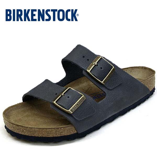 ビルケンシュトック BIRKENSTOCK Classic Arizona BS 1008925 アリゾナ ソフトフットベッド サンダル 紺 メンズ
