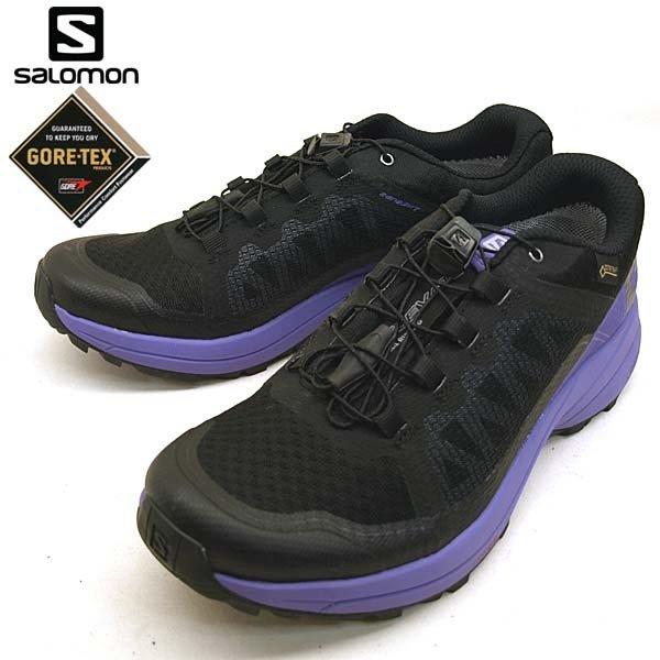 サロモン SALOMON XA ELEVATE GTX 401521 黒紫 トレイル ランニング レディース