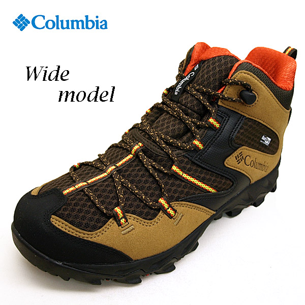 コロンビア Columbia Saber IV Mid Outdry Wide YI7463-264 セイバー 4 ミッド アウトドライ ワイド トレッキング 登山靴 茶 メンズ
