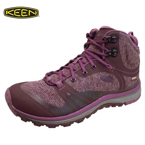 キーン KEEN TERRADORA MID WP 1019876 テラドーラ ミッド 防水 ウォータープルーフ 紫 ハイキング アウトドア レディース