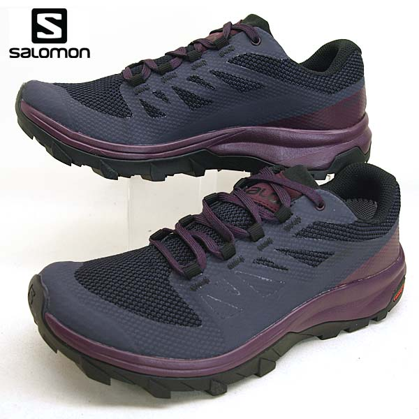Salomon SALOMON OUTline GTX W 406196 dark blue purple hiking mountain climbing shoes Gore Tex waterproofing Lady's