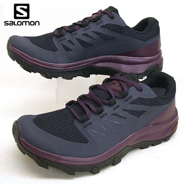サロモン SALOMON OUTline GTX W 406196 紺紫 ハイキング 登山靴 ゴアテックス 防水 レディース