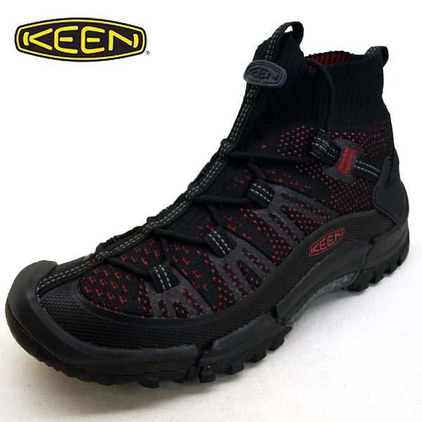 キーン KEEN AXIS EVO MID アクシス エヴォ ミッド 1021179 黒/赤 ハイキング メンズ