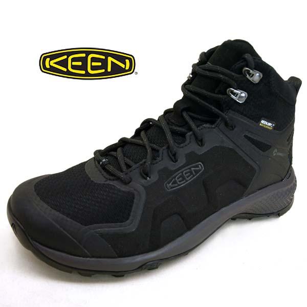 キーン KEEN EXPLORE MID WP エクスプロール ミッド1021602 ウォータープルーフ 黒 防水 ハイキングシューズ メンズ