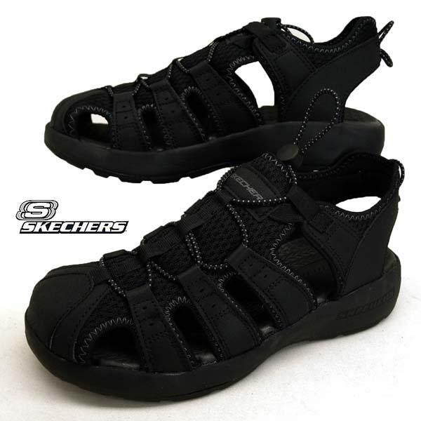 スケッチャーズ SKECHERS SPORT 51834 BBK カジアウトドア スポーツサンダル 黒 メンズ
