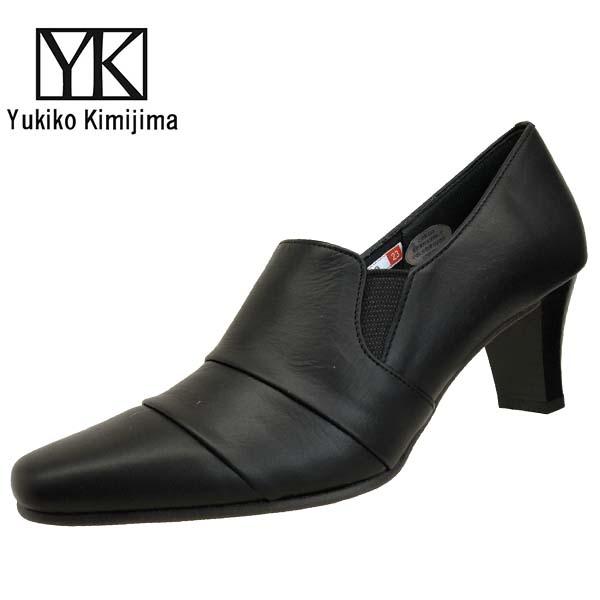 ユキコ キミジマ Yukiko Kimijima 8410 黒 パンプス 本革 レディース