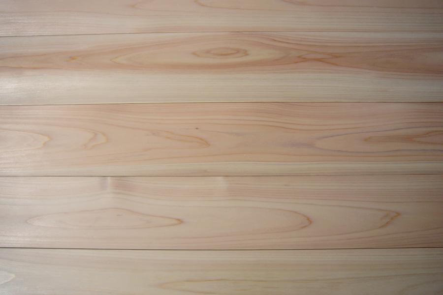 桧無垢フローリング 無節 1.92mx15x108 (16枚入)1坪 無塗装・UV塗装・エゴマ油自然塗装よりお選びください。北海道沖縄及び離島別途送料掛かります。