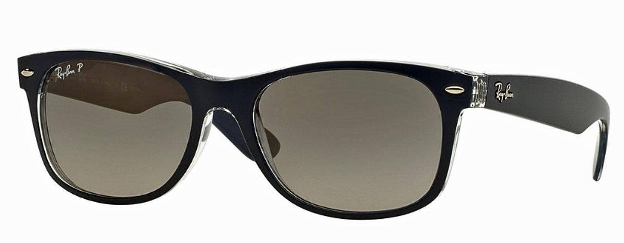 レイバンサングラス 高品質イタリア製 品番RB2132-6053M3 ネイビークリア/グレーレンズ メンズ/レディース 紫外線UVカット 偏光レンズ 釣り アウトドア 日本未入荷 ギフト誕生日 セルフレーム スクエアシェイプ