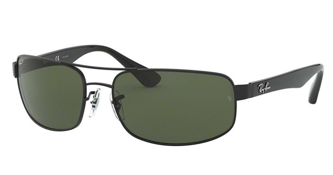 【新品】レイバン サングラス メンズ フリーサイズ ブラック×グリーン×偏光×レンズ UVカット RayBan 送料無料 誕生日 ギフト おしゃれ ブランド ミラノ クリエンテ RB3445-002/58